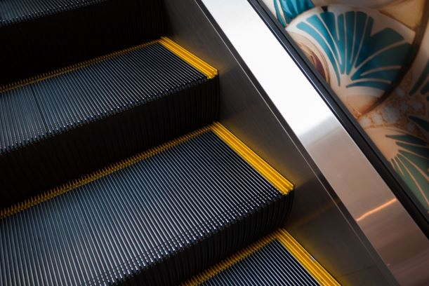 escalator steps
